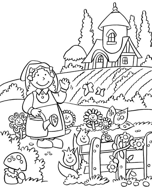 garden coloring page # 7