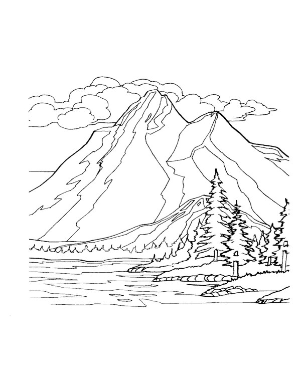 mountain coloring page # 3