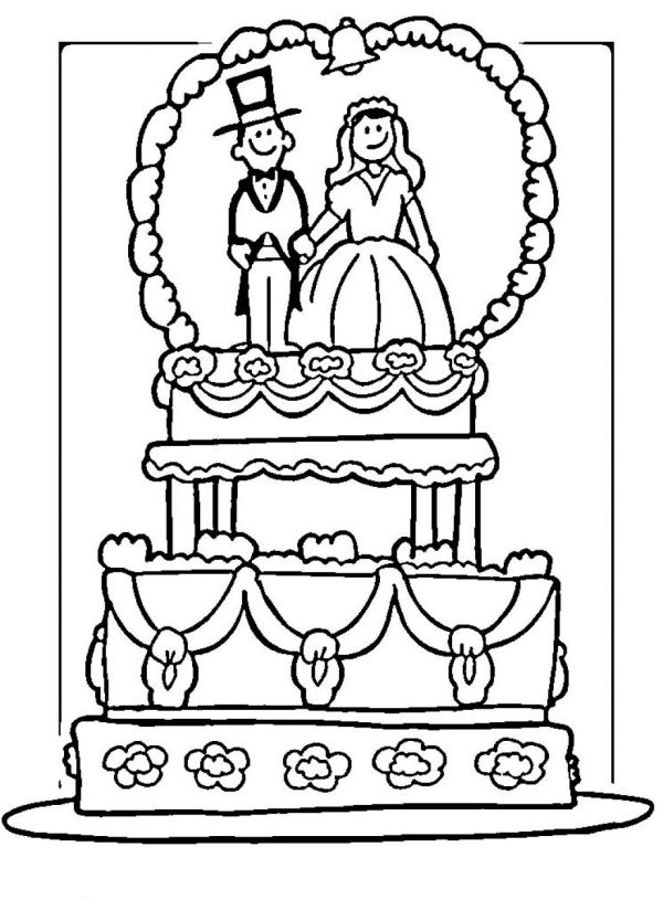 free wedding coloring pages # 3