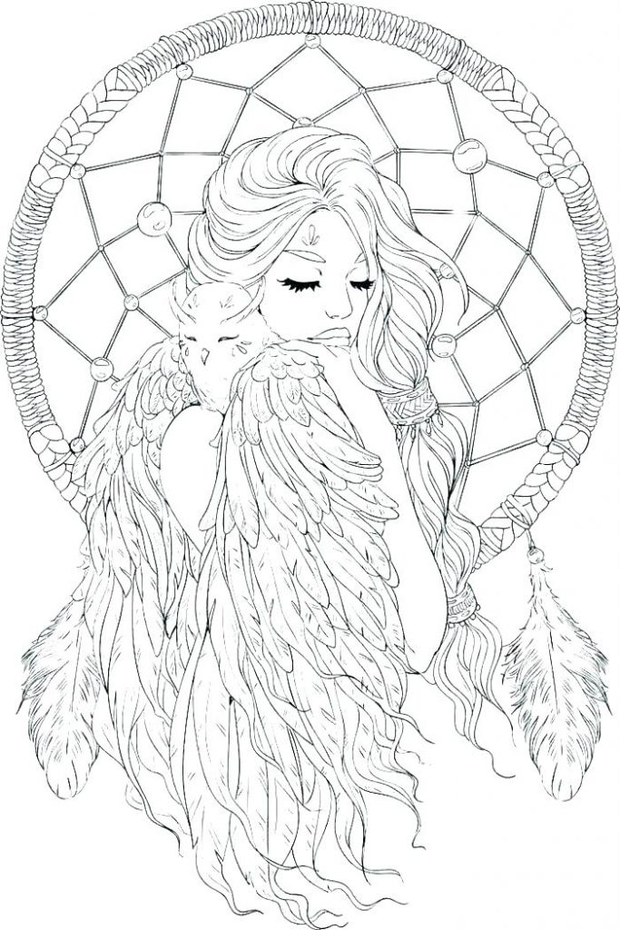Dream catcher coloring pages best coloring pages kids, bird coloring pages
