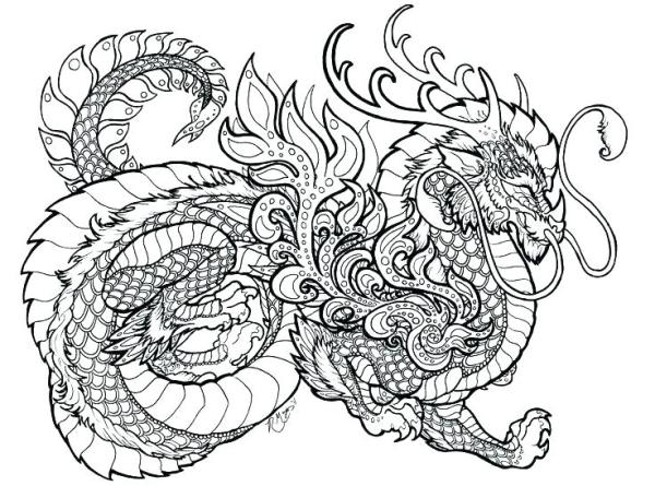 coloring pages dragon # 23