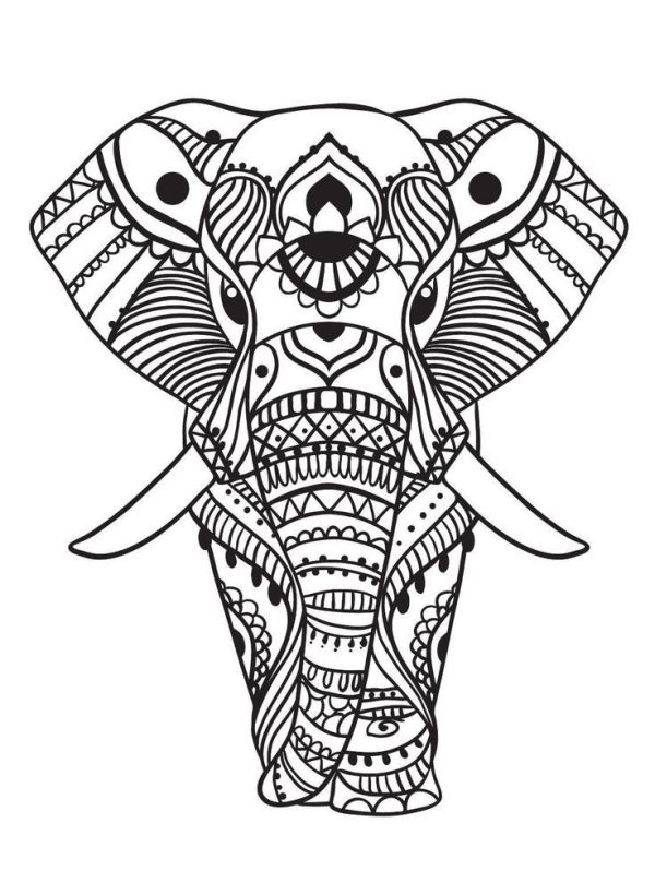 coloring pages elephant # 3