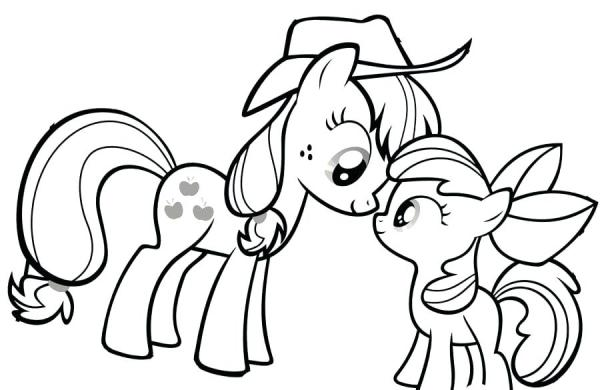 applejack coloring page # 17