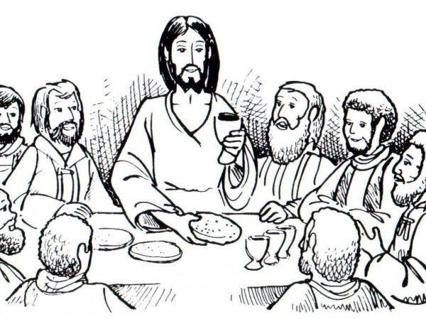 the last supper coloring page # 10