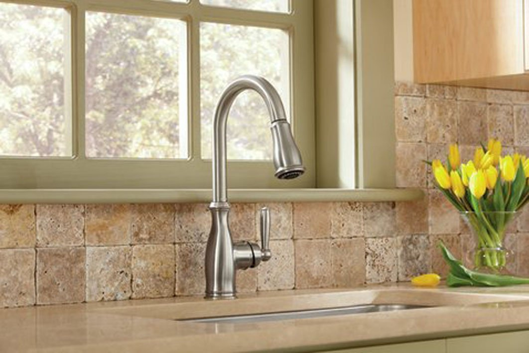 Kitchen Pull Faucets Traditional Down