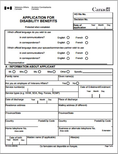 How Get Disability Forms