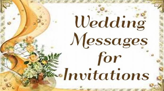 Best Wedding Invitation Message