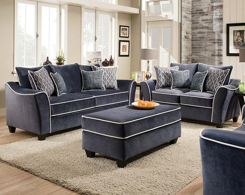 Dark Blue Living Room Chair