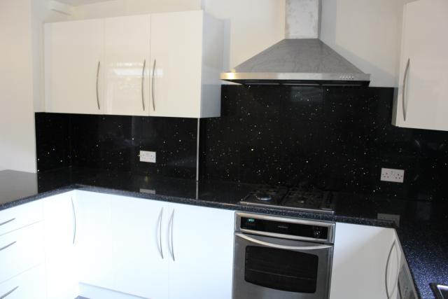 Kitchen White Splashback Grey