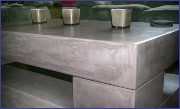 Beton Tafel Maken : Betonlook tafel is de nieuwe trend