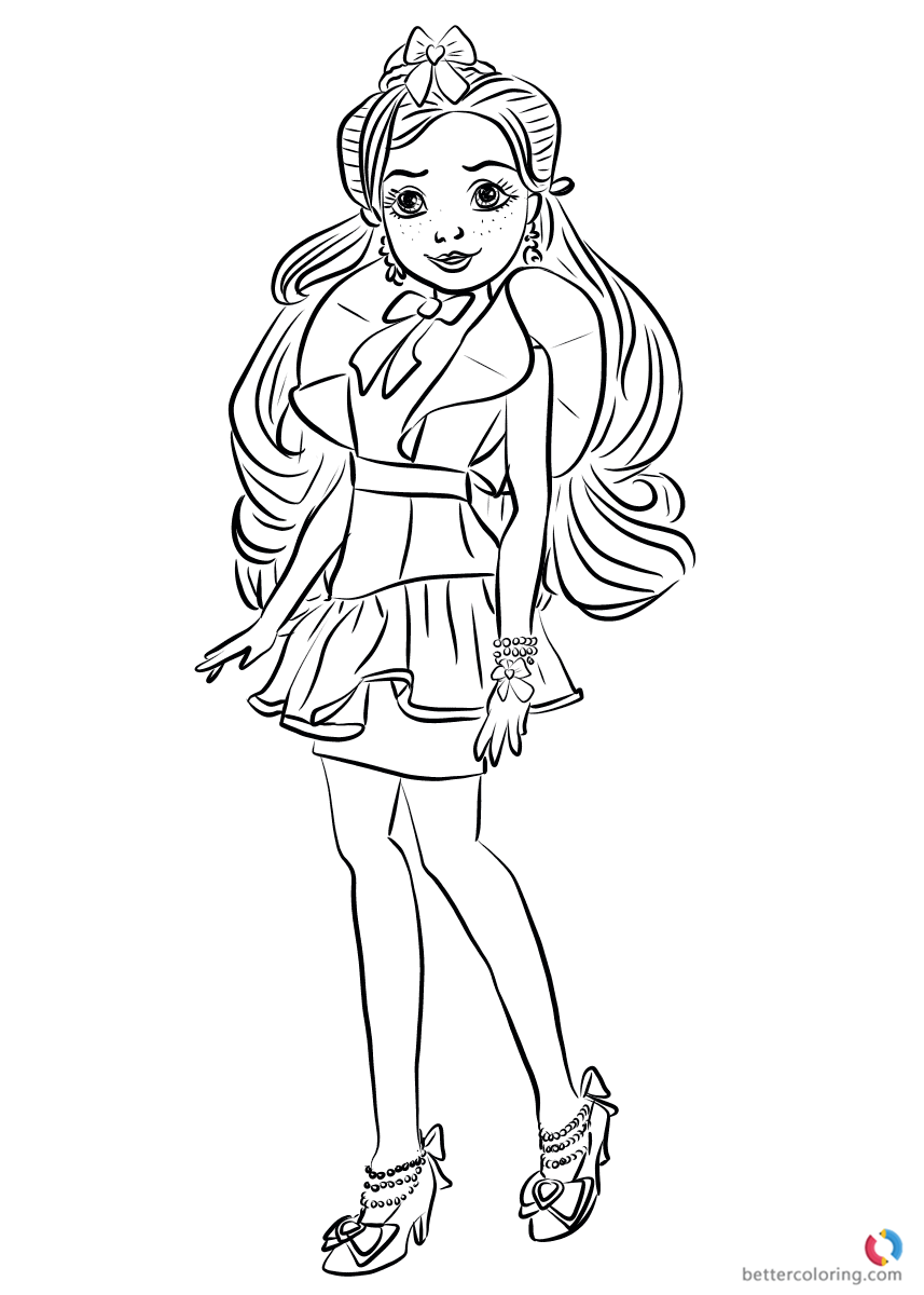 Jane Wicked World From Descendants 2 Coloring Pages Printable For