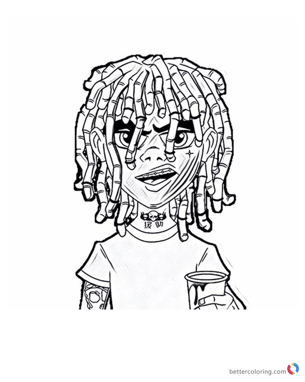 Lil Pump Coloring Pages