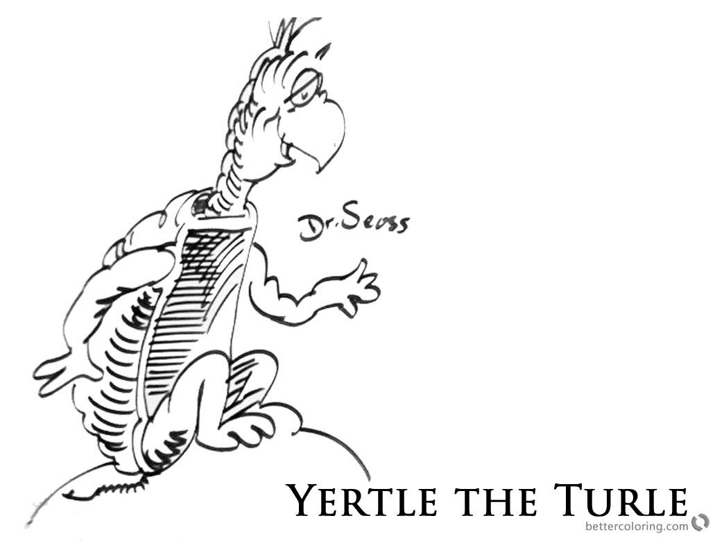 Dr Seuss Yertle Turtle Coloring Pages