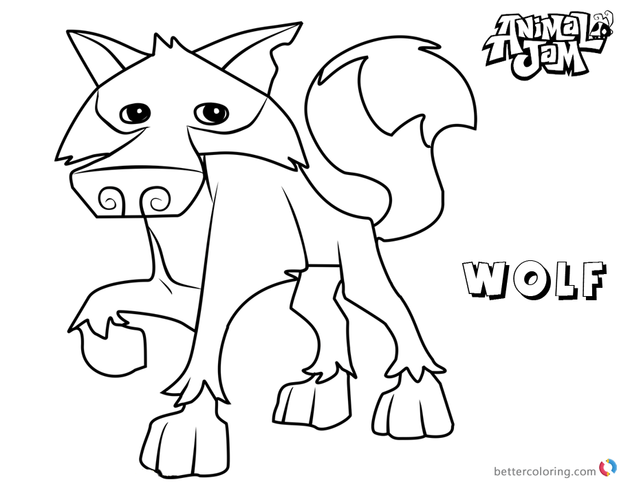 Animal Jam Coloring Pages Wolf Free Printable Coloring Pages
