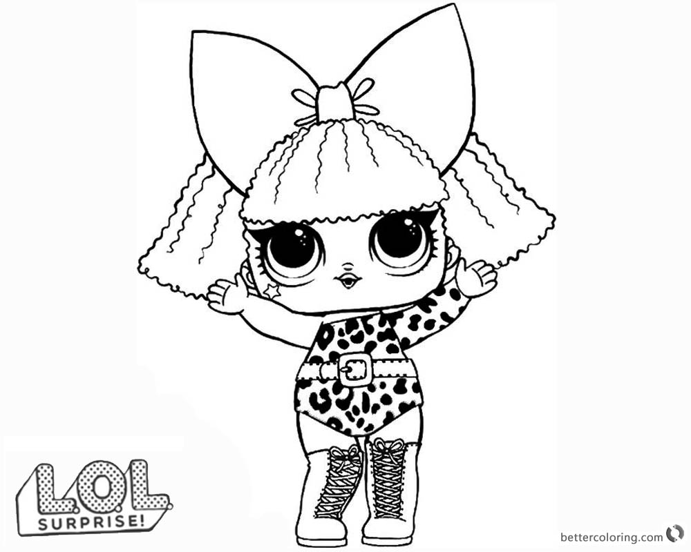 Diva Lol Surprise Doll Coloring Pages