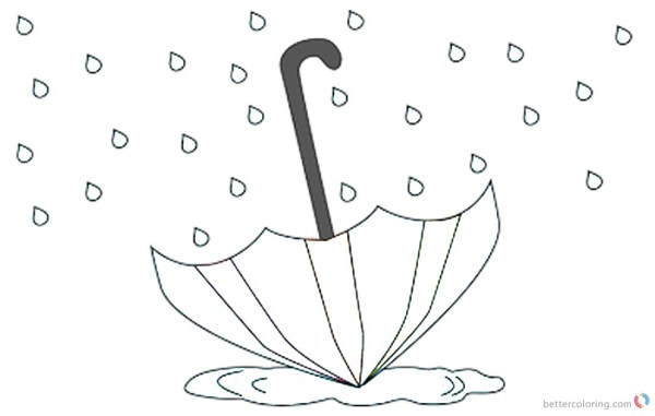 raindrop coloring page # 53