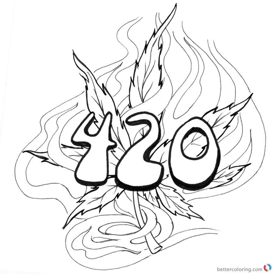 Marijuana Stencils Printable