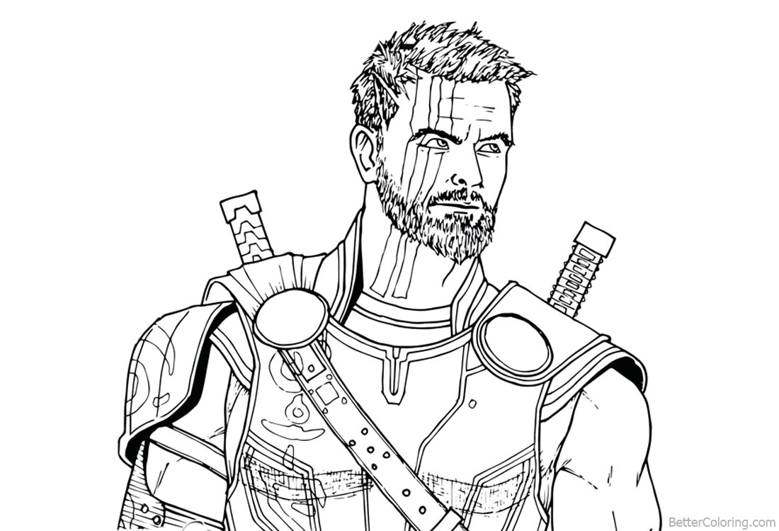 Avengers Thor Coloring Pages Printable