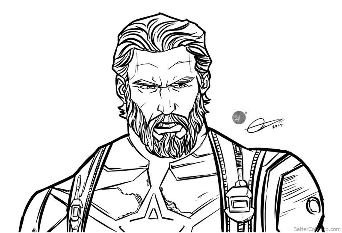 Avengers Infinity War Coloring Pages Artalen Jpg 1100x750