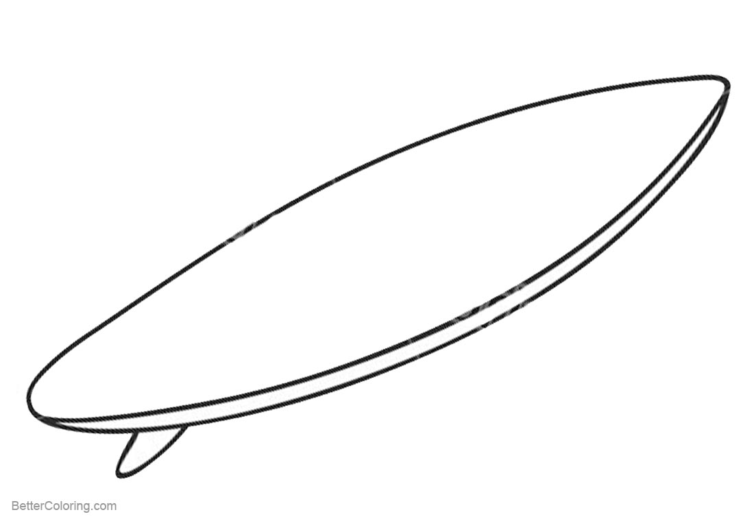 Surfboard Coloring Page Free Coloring Pages Download | Xsibe ...