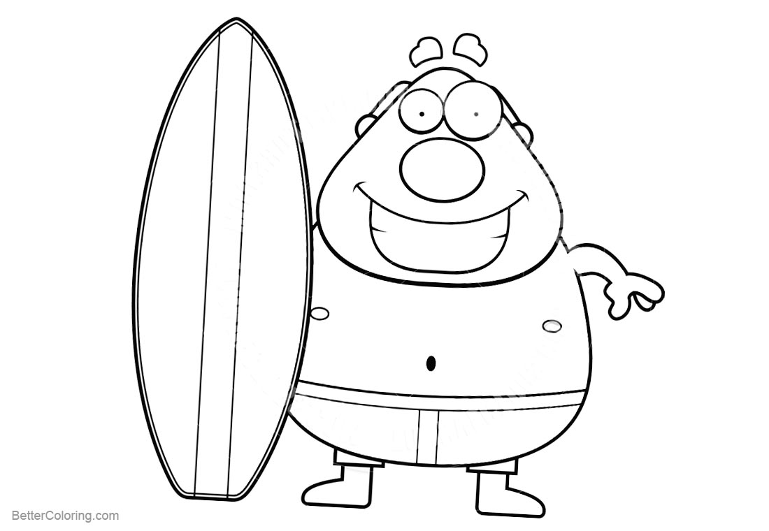 Surfboard Coloring Pages Free Coloring Pages Download | Xsibe ...