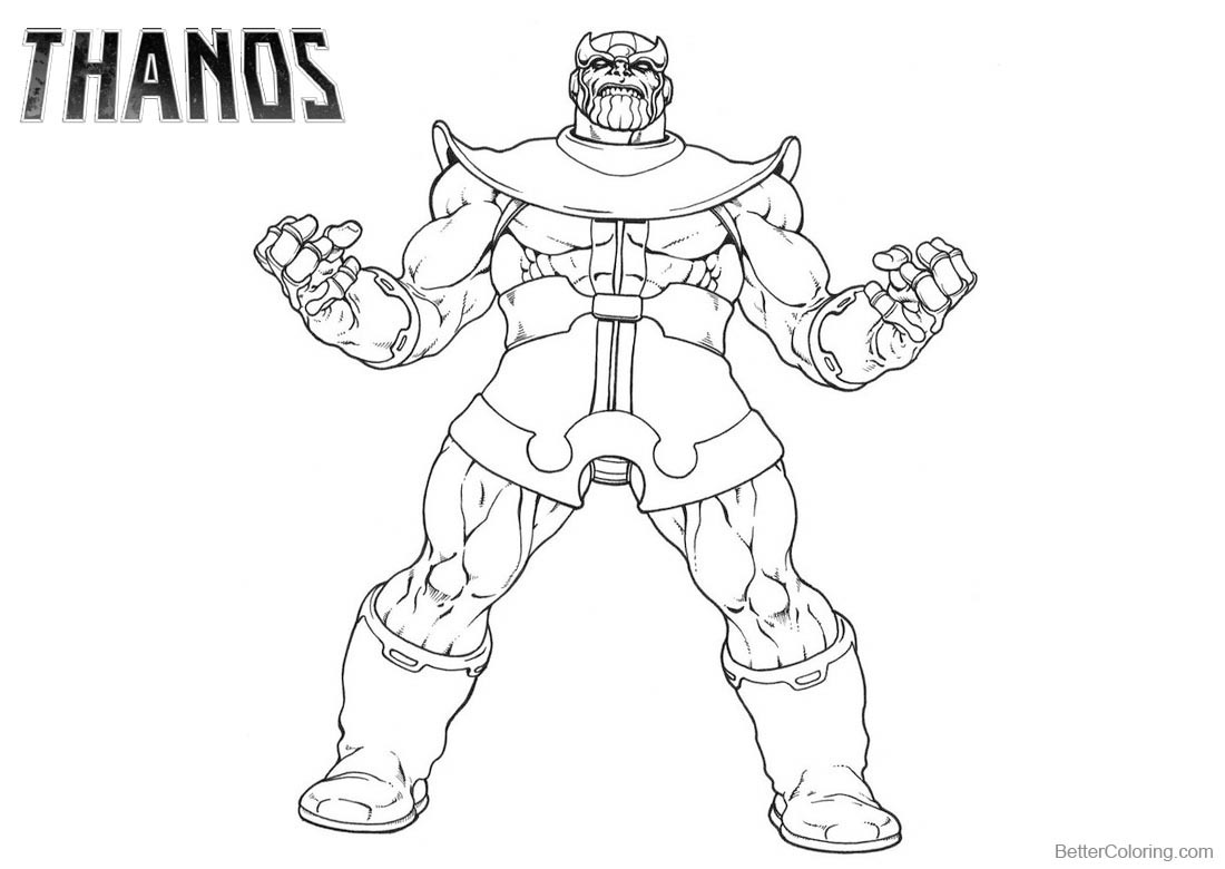 Thanos Fortnite Coloring