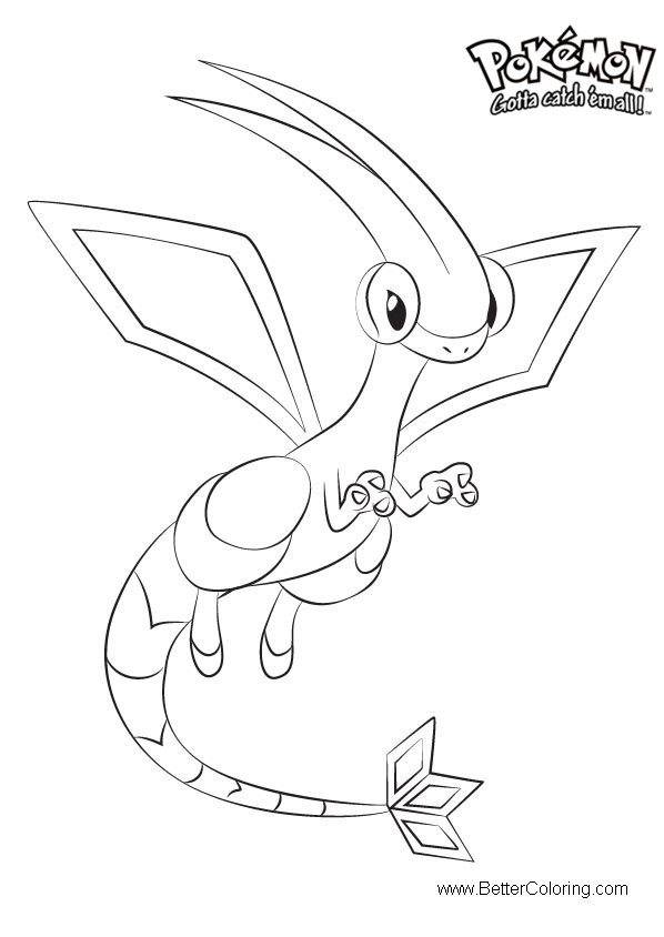 Pokemon Coloring Pages Flygon Free Printable Coloring Pages