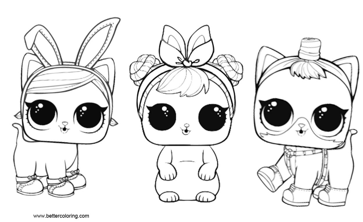 Lol Print Pets Coloring Pages