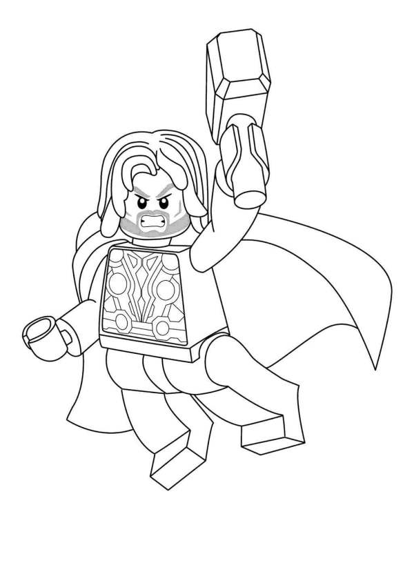 thor coloring page # 54
