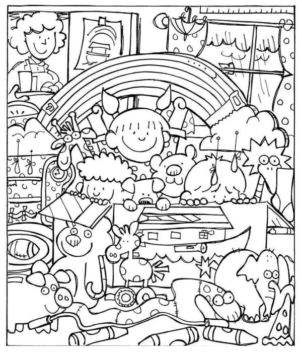 noah and the ark coloring pages # 44