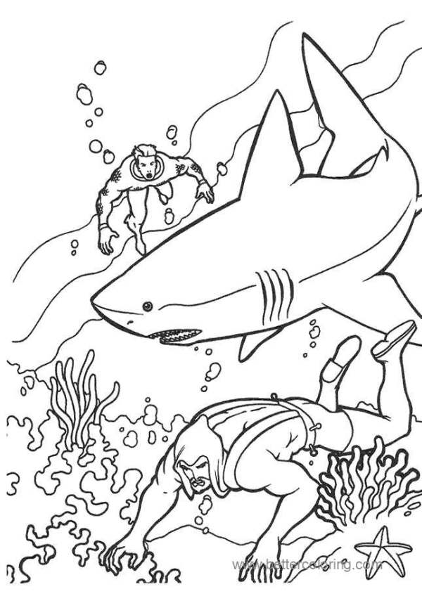 aquaman coloring pages # 77