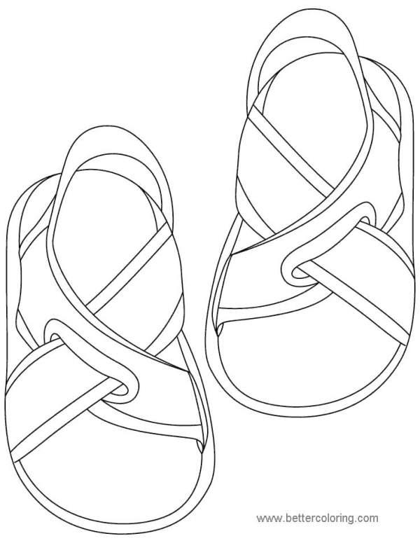 flip flop coloring page # 42