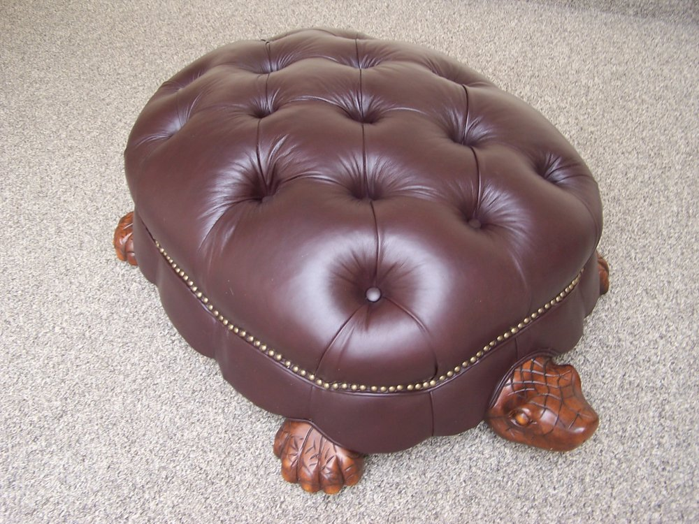 Turtle Ottoman In Leather Better Home Improvement Www