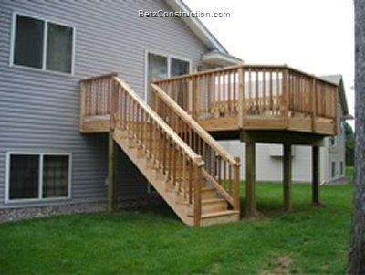 Betz Construction Exterior Decking Railings And Stairs Twin | Exterior Stairs To Second Floor | Commercial Exterior | Design | Two Story | Covered | Patio