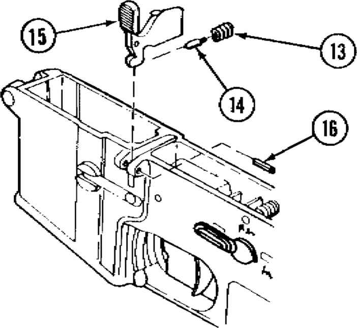 M16 Lower Receiver Assembly Diagram