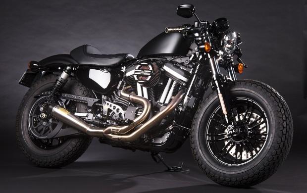 White Harley Sportster 1200