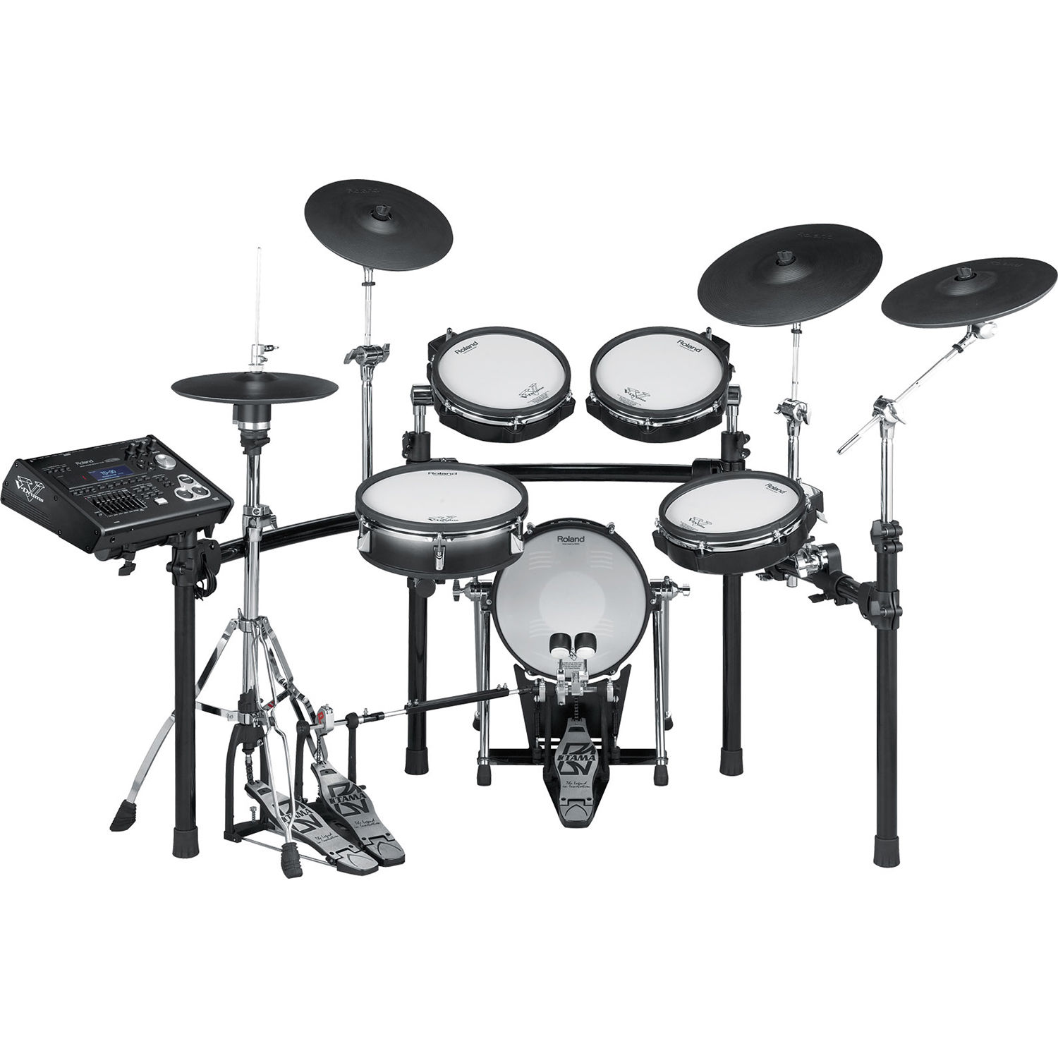 Roland TD 30K V Pro Electronic Drum Set with MDS 50K30 TD 30K S Shown with Optional Equipment