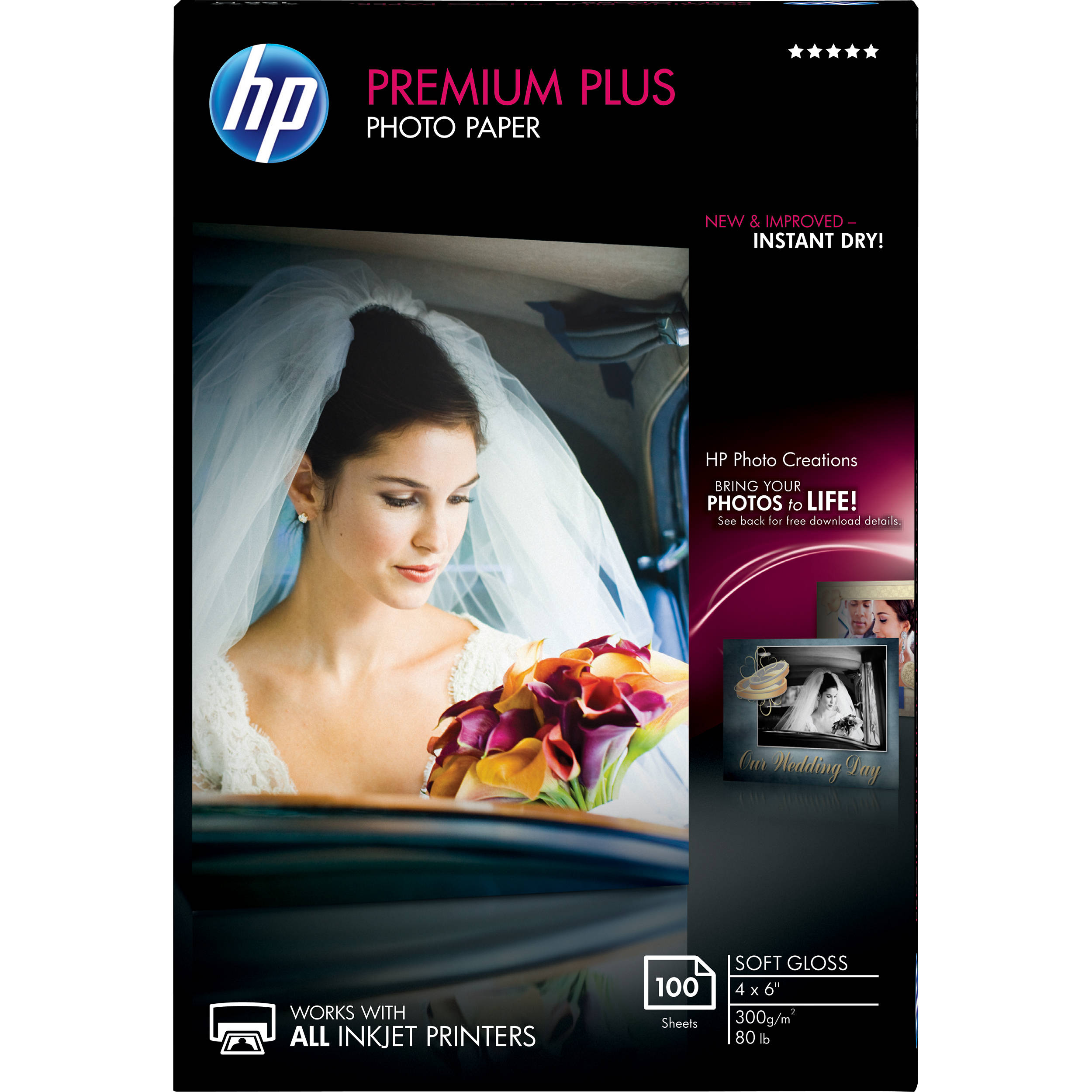 Hp Premium Plus Soft Gloss Photo Paper Cr666a B Amp H Photo Video