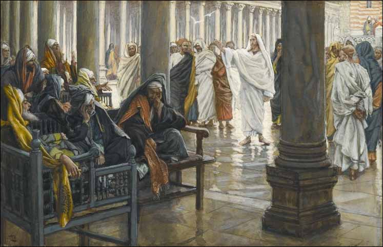 James Tissot, Woe unto You, Scribes and Pharisees.