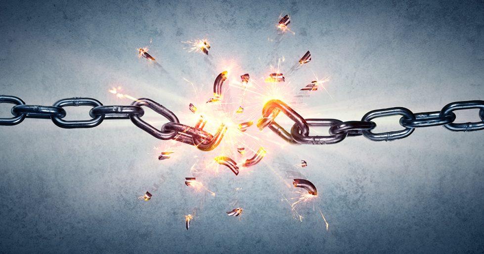 Chains Breaking Background Powerpoint