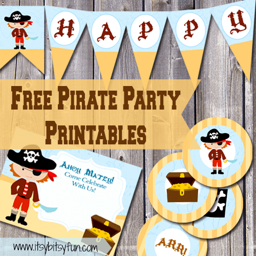 Printable Invitations Pirate