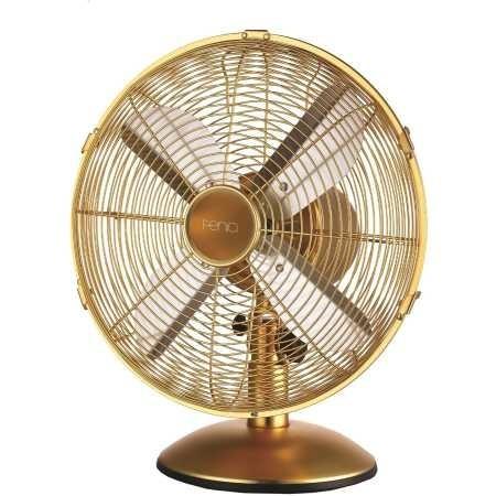 Fenici 30cm Metal Desk Fan Gold Big W