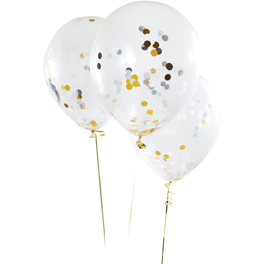 Artwrap Confetti Balloons 3 Pack Gold Big W