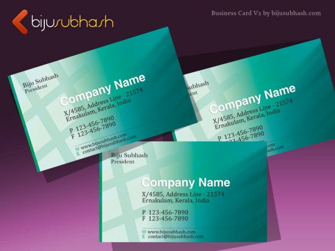 Green Abstract Business Card Template Version 2     bijusubhash com Green abstract business card template