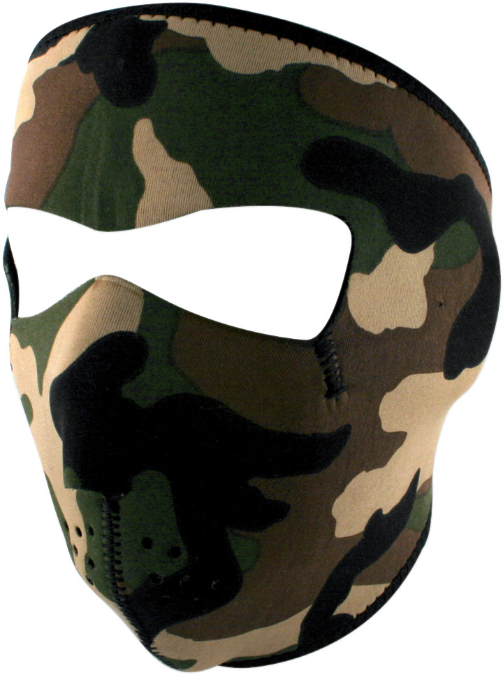 Zan Headgear Neoprene Full Face Mask Woodland Camo