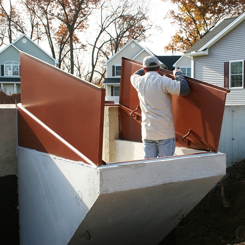 Permentry Basement Entrance | Bilco Precast Basement Stairs | Egress Window | Basement Entry | Precast Concrete Steps | Bilco Doors | Wine Cellar