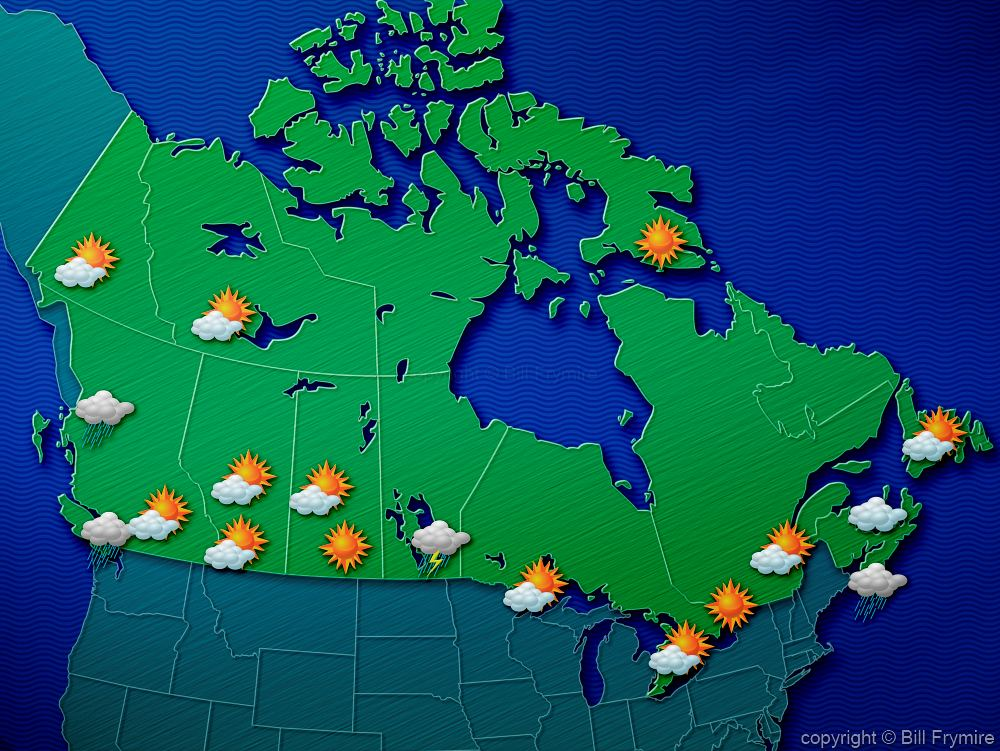Weather map of Canada