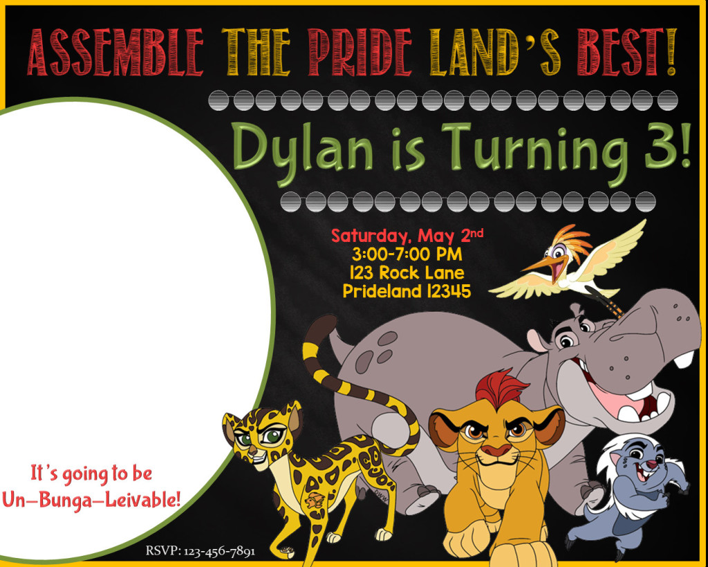 Printable Lion King Invitations