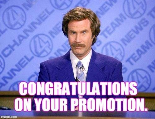 Funny Congrats Promotion