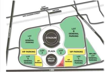 Best world and countries maps » oakland coliseum parking map | World ...